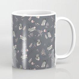 Bunny meadow seamless pattern Coffee Mug