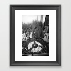 Fifty Ninth Street Freeze-Out    Framed Art Print