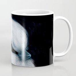 White Bird Black Background #decor #society6 #buyart Coffee Mug
