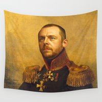 replaceface Wall Tapestries featuring Simon Pegg - replaceface by replaceface