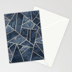 Soft Dark Blue Stone Stationery Cards