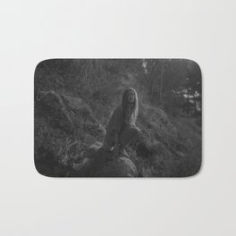Girl in forest  Bath Mat