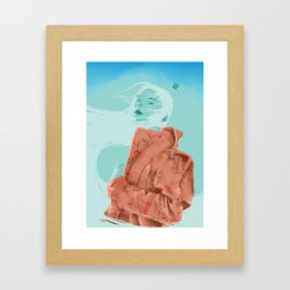 Cloud Hero Framed Art Print