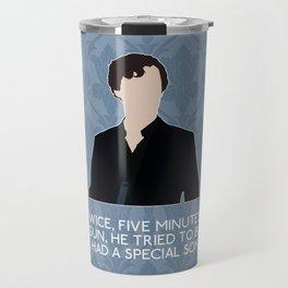 The Reichenbach Fall - Sherlock Holmes Travel Mug