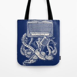 Rocker robot Navy Tote Bag