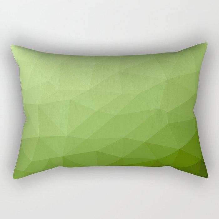 Greenery ombre gradient geometric mesh Rectangular Pillow
