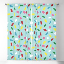Sweet glazed, with colorful sprinkles on blue melting icing Blackout Curtain