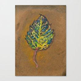 Mouldering Leaf Canvas Print
