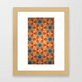 Orange Blossom and Blue Jeans Framed Art Print
