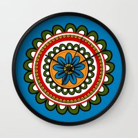 mexican Wall Clocks featuring Mexican  by Petya Hadjieva (ragerabbit)