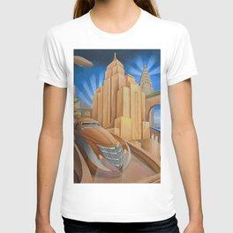 I Will Possess Your Heart - New York City Art Deco Landscape T-shirt