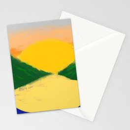 Setting Sun Along The Lake (Coloured) Stationery Cards