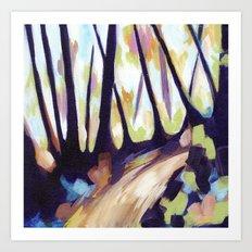 Mount Davidson - Purple Art Print