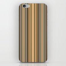 Grey-beige stripes iPhone Skin