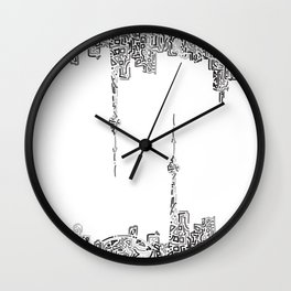 Doodling Toronto Wall Clock