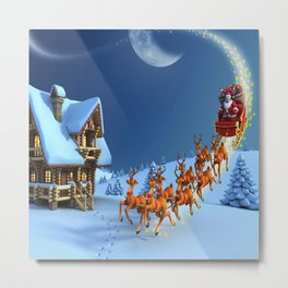 Night Christmas Metal Print