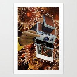 polaroids of polaroids Art Print