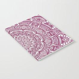 Wine Maroon Ethnic Detailed Textured Mandala Notebook