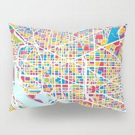 Washington DC Street Map Pillow Sham
