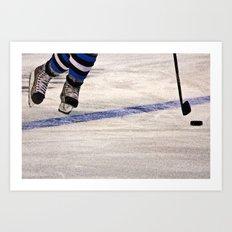 He Skates Art Print