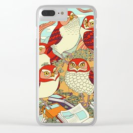 Burrowing Owl Family Clear iPhone Case
