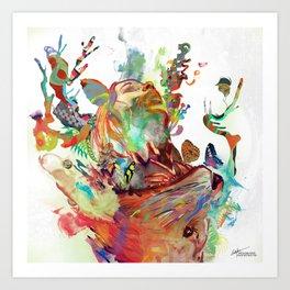 Anemones Blooming Art Print