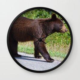 The happiest bear in Jasper National Park Wall Clock