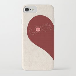Knitted heart iPhone Case