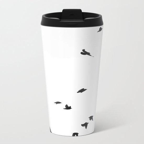 Folks Birds Metal Travel Mug