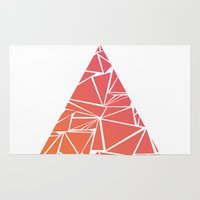 pyramid Area & Throw Rugs featuring Pyramid by Mariam Calitri