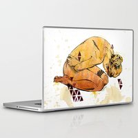 anxiety Laptop & iPad Skins featuring Anxiety Prone by Emily J Moore