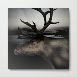 Tom Feiler Caribou Metal Print