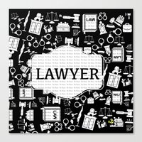 lawyer Canvas Prints featuring BLACK LAWYER by Be Raza