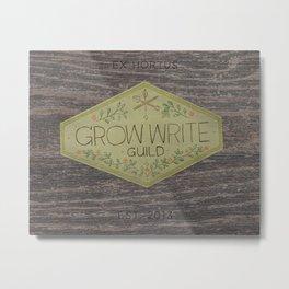 Grow Write Guild Seal Metal Print