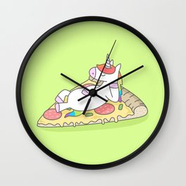 Unicorn Pizza Wall Clock