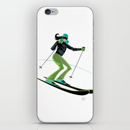 Ski Girl Turns iPhone Skin