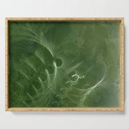 Abstract Green Marble Serving Tray