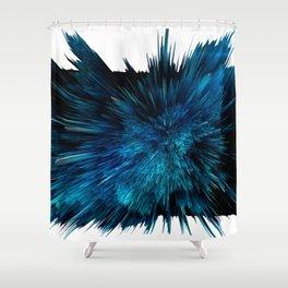 Blue art Shower Curtain