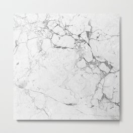 Marble Bianco Metal Print