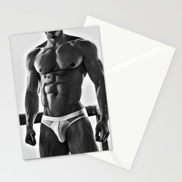 PR-11, Gay art, male nude figure, naked man, naked male figure Stationery Cards