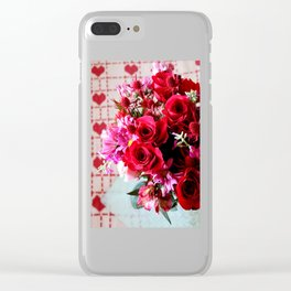 Hearts And Flowers Clear iPhone Case
