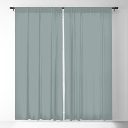 Dark Muted Pastel Blue Gray Solid Color Parable to Valspar Cafe Blue 5001-4A Blackout Curtain