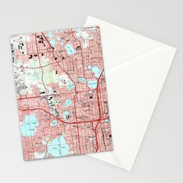Orlando Florida Map (1995) Stationery Cards