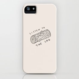 TWIN PEAKS (LISTEN TO THE LOG) iPhone Case