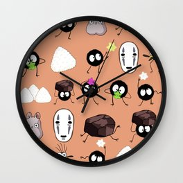 To the japanese ancient demon hotel Wall Clock