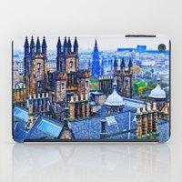 edinburgh iPad Cases featuring Edinburgh Rooftops  by Valerie Paterson
