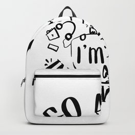 Go Away I M Introverting-b Introvert Design Backpack