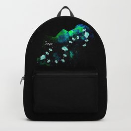 Scorpio Constellation in Turquoise - Star Signs and Birth Stones Backpack