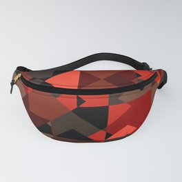 Peekaboo #3: abstract digital art - trendy modern colors from rectangles. Fanny Pack