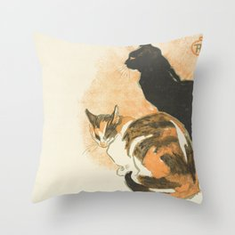 "Théophile Steinlen ""At La Bodinière (A la Bodinière)"" Throw Pillow"
